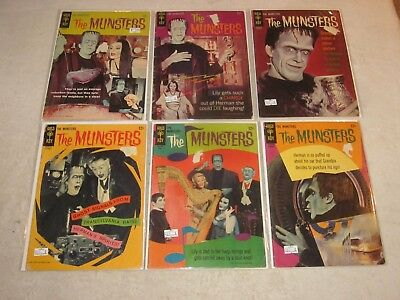 The Munsters 1 2 4 10 12 16 Gold Key Lot