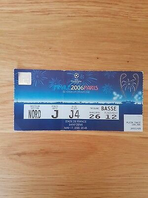2006 Champions League Final Ticket Barcelona v Arsenal