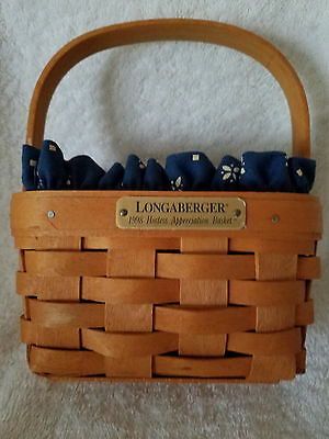 "Longaberger 1998 ""Hostess Appreciation Basket"" with liner"