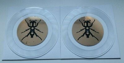 "Pair Of Clear 7"" Vinyl Serato Thud Rumble DJ Qbert"