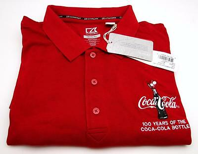 Coca Cola Long Sleeve Men's 2x Large NWT Red Knit Shirt 100 Years Cutter & Buck
