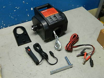 Pro Lift I-9620 Portable Electric Winch 2000 lb. Capacity 30 Ft. Cable 12VDC