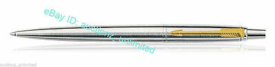 Parker Jotter Steel GT Ball Point Pen Fine Quink Blue Ink Brand New Loose no box
