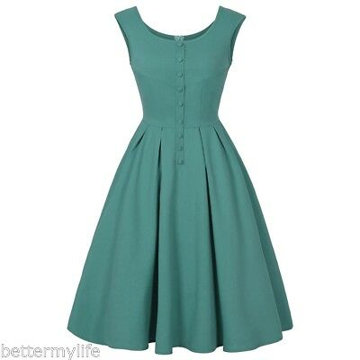 donna rockabilly vintage anni 50 '60 Swing vestiti Cocktail Party PIN-UP abito