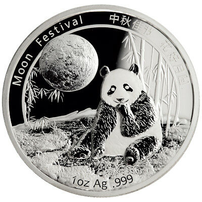 2016 China 1 oz. Proof Silver Panda - Moon Festival Medal In Mint Cap SKU42892