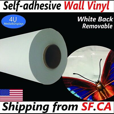 """54"""" x165ft,Removable Self-adhesive Printing Wall Decal Graphic Sticker Vinyl"""
