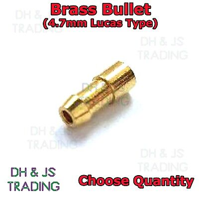 Classic cars *Top Quality 4.7mm Crimp type 2.0mm2 wire Brass bullet Torpedo