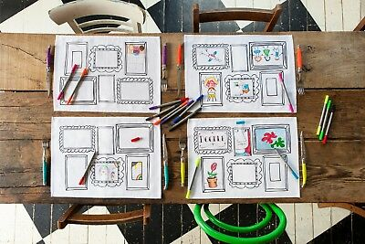 4 fun frame design placemats to personalise, wash and use again, wash-out fabric