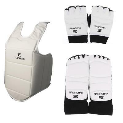 PU Foot Guards + Gloves + Chest Guard for Taekwondo Karate Boxing Muay Thai