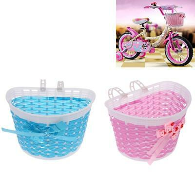 2Pcs Children Kids Girls Bicycle Front Basket Bike Cycle Shopping Holder Bag