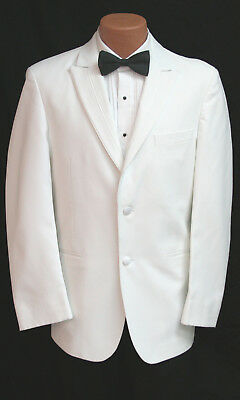 White Perry Ellis Rio Tuxedo Dinner Suit Jacket Wedding Prom Cruise Church Mason