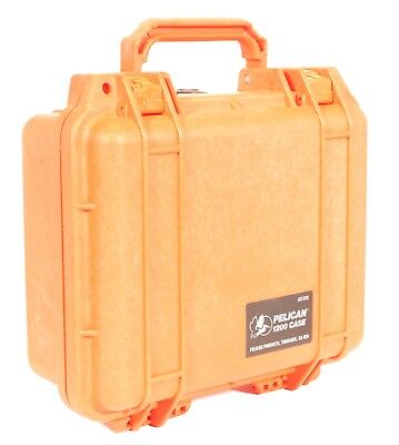 Pelican 1200 Protection Case Orange With Foam Used