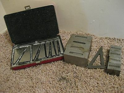 Machinist Block Gage Angle Set ? Blakeslee In Starrett Box
