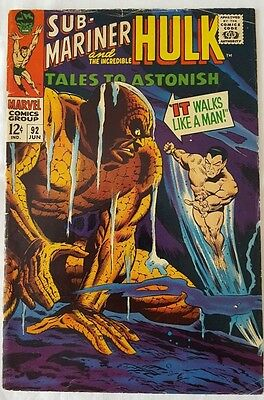 Tales to Astonish #92_Sub-Mariner and Hulk appear_Silver Surfer cameo