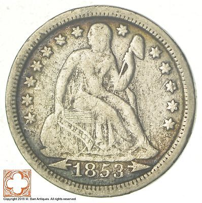 1853 Seated Liberty Silver Dime *7297