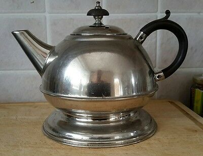 1930s Masters Patent Tea Pot Silver Plate on Solid Copper with Bakelite Handle