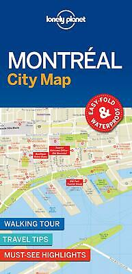 Lonely Planet Montreal City Map by Lonely Planet Free Shipping!