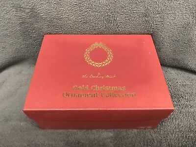 Danbury Mint Gold Christmas Ornaments Collection W/ Box Complete