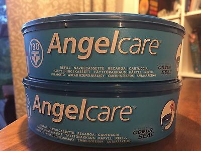 2x Angelcare Nappy Disposal System Refill Cassettes