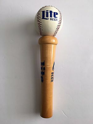 Classic Vintage Miller Lite Baseball Bat And Ball Beer Draft Tap Handle Knob