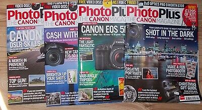 Photo Plus The Canon Magazine Issues 117, 118, 119 and 121 Sept, Oct, Nov 2016 &