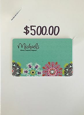 $500.00 Michaels Crafts Store Gift Card