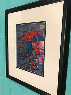 Framed Spiderman Serigraph Cell from Marvel Studios - free USA shipping