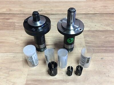 Nice Pair Of Hardinge No. 200 5C Expanding Collet Assembly + Collets