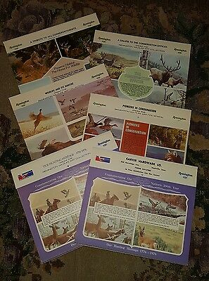 Lot of 6 Vintage REMINGTON Wildlife Art Collection Calendars 1976 - 1980