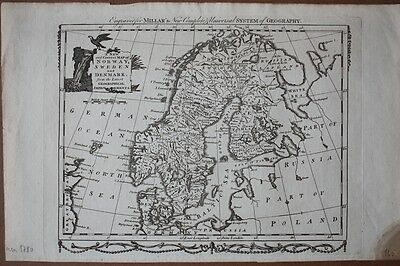 A new and correct Map of Norway, Sweden, and Denmark from the Latest Geographica