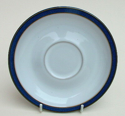 Denby Stoneware 1st Quality Imperial Blue Pattern Tea Cup Saucers Only - in VGC