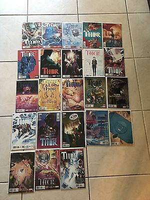 Marvel Comics Thor Lot (Issues 1-8, 1-13, 15, & Annual) Jane Foster!