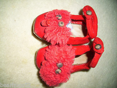 Child's Original Felt Wool Slippers with Metal Shank Shoe Button Fasteners