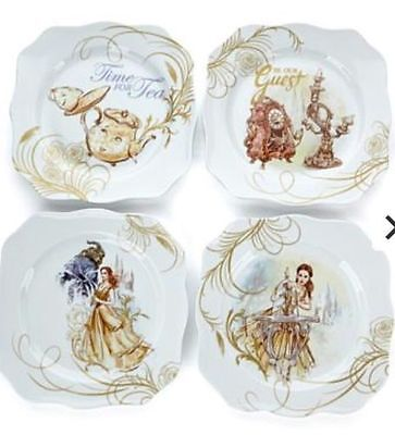 HSN Disney Beauty and the Beast Collector Plates set of 4 NIB Sold out on HSN