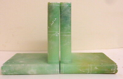 Art Deco Onyx Book Shaped Bookends