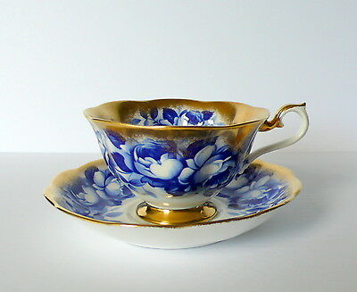 Royal Albert Blue Roses Bone China Tea Cup & Saucer Set