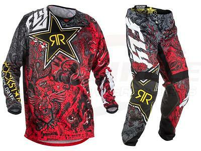 Fly Racing Kinetic Rockstar Energy Jersey Pant Combo Set MX ATV Riding Gear 2018