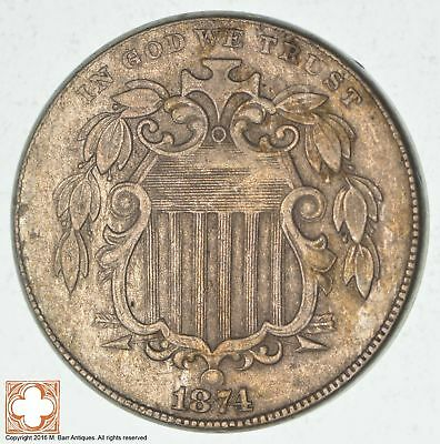 1874 Shield Nickel - US Type Coin *3181