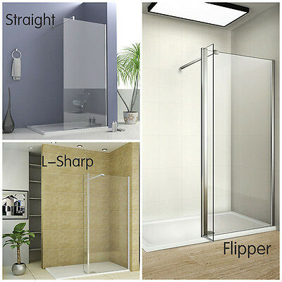 Multi-type Suppor Bar Wet Room Shower Screen Enclosure Walk in Glass Panel Glass
