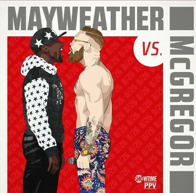 2 TICKETS Mayweather vs McGregor Fight Sect. 212 Row: R Excellent View! 🎫 🎫