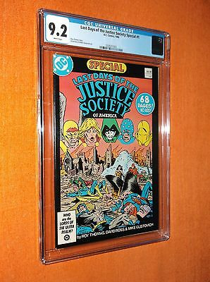 LAST DAYS OF THE JUSTICE SOCIETY SPECIAL #1 CGC 9.2 - Limited CGC availability!!