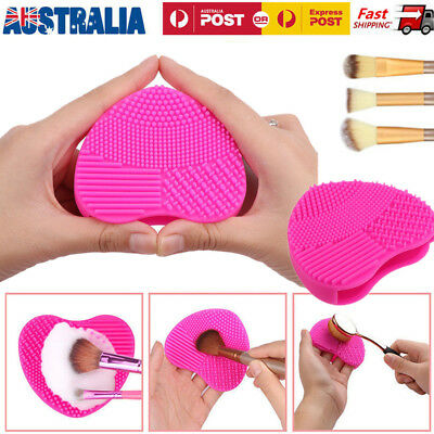 1/5pcs Silicone Makeup Brush Cleaner Washing Scrubber Board Cleaning Pad Heart