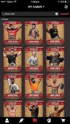 Topps UFC Digital 14 Card Lot Of Red Past And Present Champions Cards . 100cc