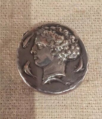 Whiting Antique Aesthetic Sterling Silver Homeric Medallion Chariot Match Safe