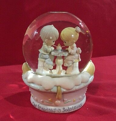 Our Friendship is Sodalicious Precious Moments Wind Up Snow Globe