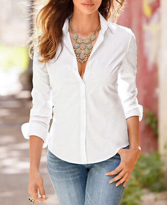 Fashion Women's Ladies Summer Loose Cotton Tops Long Sleeve Shirt Casual Blouse