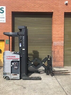 Nissan Double Deep Reach Forklift 6m Sideshift Like New