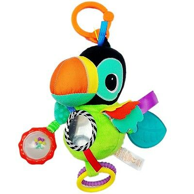 Baby Kid Child Bright Starts Beautiful Parrot Rattle Activity Comfort Pal Toy 0+