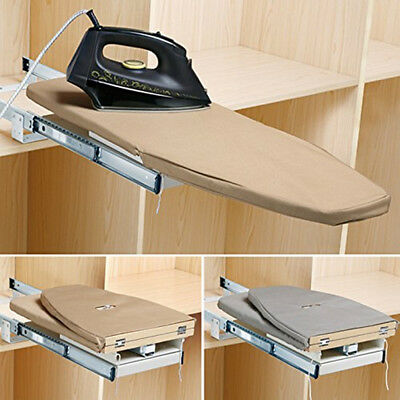 Collapsible Pull Out Ironing Board Slide Out Swivel Sytle For Wardrobe Drawer UK