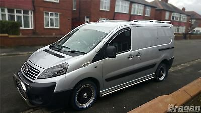 To Fit 07 - 16 Citroen Dispatch SWB Stainless Steel Side Chrome Bars Steps Tubes